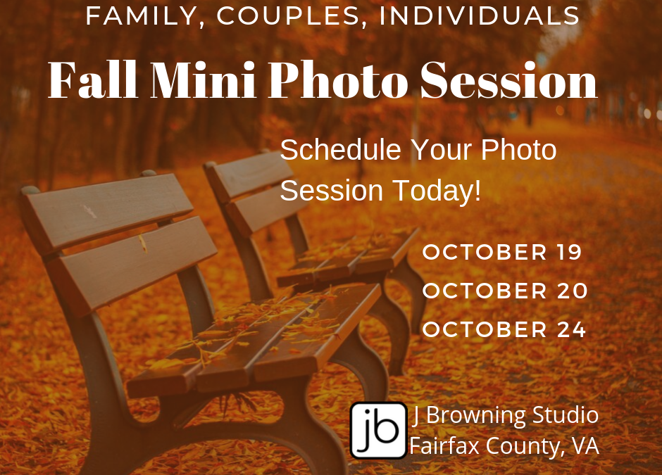 2019 Fall Mini Photo Sessions for Family, Couples, or Individuals in Fairfax County, VA