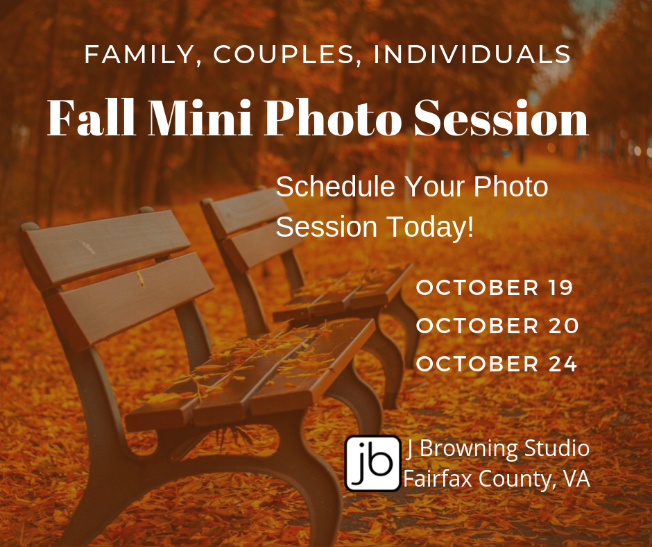 2019 Fall Mini Photo Sessions for Family, Couples, or Individuals in Fairfax County, VA 1