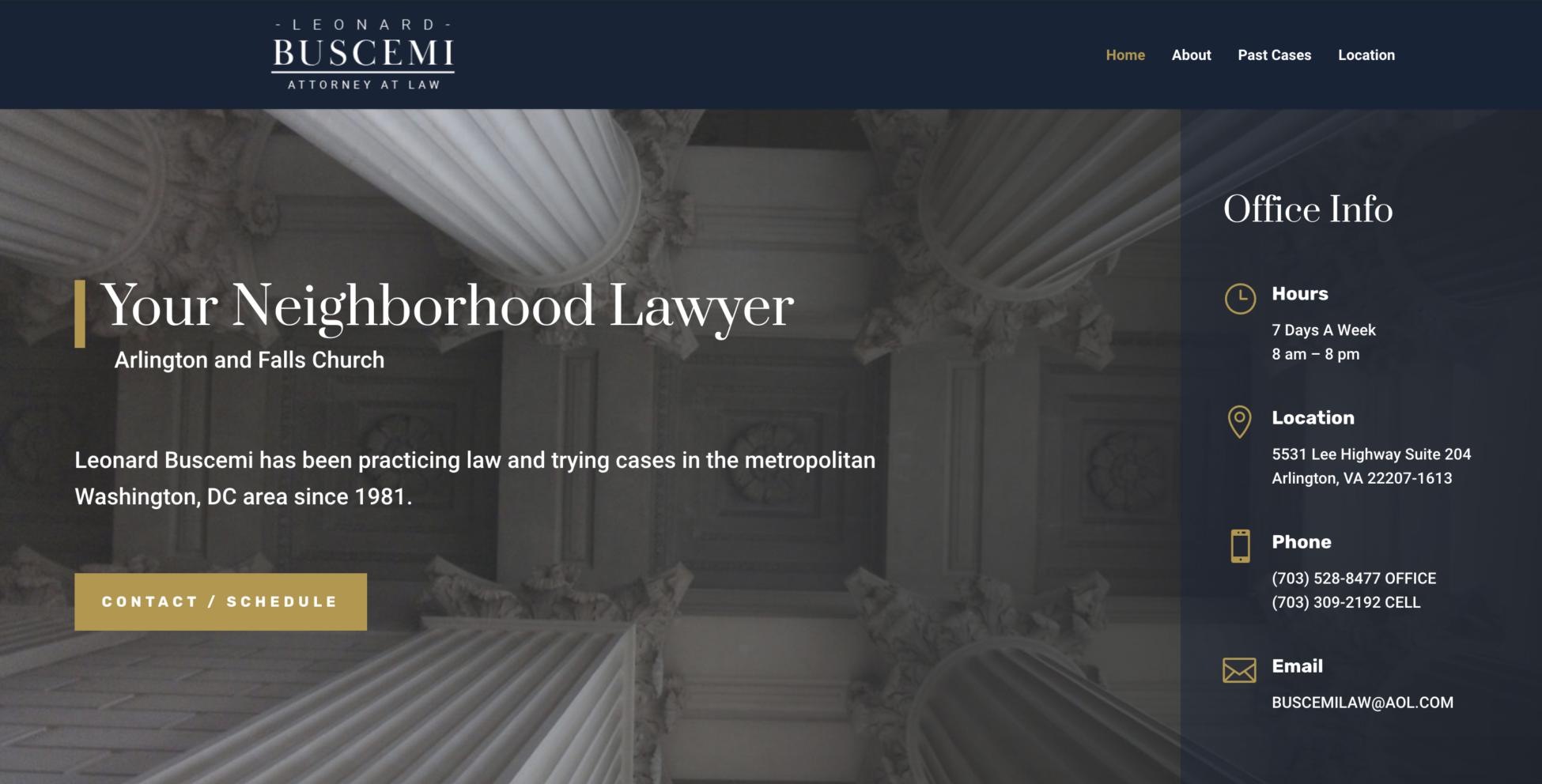 DC Law Firm Website Design using DIVI theme