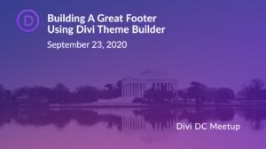 J Browning Studio Hosting Divi WordPress DC Meetup
