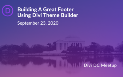 Building A Great Footer Using Divi Theme Builder